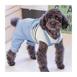 犬 服 サロペット 夏 春 デニム 犬の服 きゃんナナ ドッグウェア ブランド|cannanaonline|02