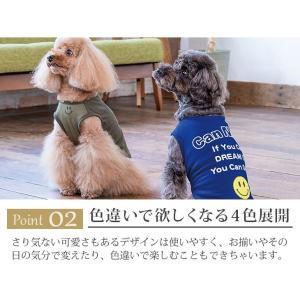 犬 服 Tシャツ 冷感 夏 春 スマイル ロゴ 犬の服 きゃんナナ ドッグウェア ブランド|cannanaonline|04