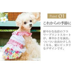 犬 服 ワンピース 花柄 キャミ 春 夏 冷感 犬の服 きゃんナナ ドッグウェア ブランド|cannanaonline|03