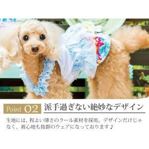 犬 服 ワンピース 花柄 キャミ 春 夏 冷感 犬の服 きゃんナナ ドッグウェア ブランド|cannanaonline|04