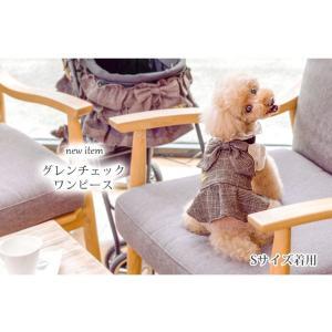 犬 服 ワンピース  チェック 秋 冬 犬の服 きゃんナナ ドッグウェア ブランド|cannanaonline|02