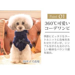 犬 服 ワンピース 秋 冬 ニット 犬の服 きゃんナナ ドッグウェア ブランド|cannanaonline|03