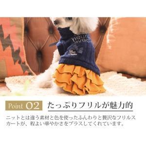 犬 服 ワンピース 秋 冬 ニット 犬の服 きゃんナナ ドッグウェア ブランド|cannanaonline|04