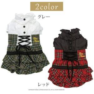 犬 服 ワンピース 秋 冬 チェック 犬の服 きゃんナナ ドッグウェア ブランド|cannanaonline|03