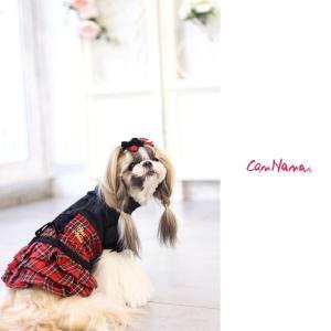 犬 服 ワンピース 秋 冬 チェック 犬の服 きゃんナナ ドッグウェア ブランド cannanaonline 08