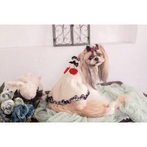 犬 服 ワンピース 秋 冬 さくらんぼ 犬の服 きゃんナナ ドッグウェア ブランド|cannanaonline|06