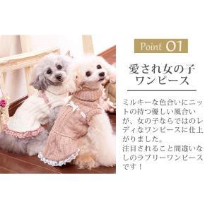 犬 服 ワンピース ニット 秋 冬 防寒 犬の服 きゃんナナ ドッグウェア ブランド cannanaonline 02