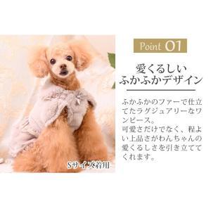 犬 服 ワンピース ファー 秋 冬 犬の服 きゃんナナ ドッグウェア ブランド|cannanaonline|03