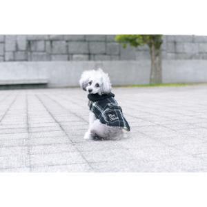 犬 服 チェック マント 裏ボア 秋 冬 防寒 犬の服 きゃんナナ ドッグウェア ブランド|cannanaonline|07