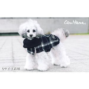 犬 服 チェック マント 裏ボア 秋 冬 防寒 犬の服 きゃんナナ ドッグウェア ブランド|cannanaonline|08