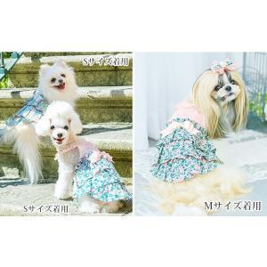 犬 服 春 夏 ワンピース 花柄 フリル 犬の服 きゃんナナ ドッグウェア ブランド|cannanaonline|02
