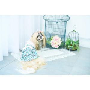 犬 服 春 夏 ワンピース 花柄 フリル 犬の服 きゃんナナ ドッグウェア ブランド|cannanaonline|13