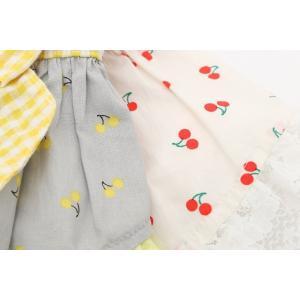 犬 服 ワンピース 春 夏 さくらんぼ 柄 レース 犬の服 きゃんナナ ドッグウェア ブランド|cannanaonline|11