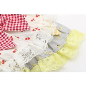 犬 服 ワンピース 春 夏 さくらんぼ 柄 レース 犬の服 きゃんナナ ドッグウェア ブランド|cannanaonline|09