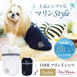 犬 服 春 夏 シンプル Tシャツ 冷感 マリン 犬の服 きゃんナナ ドッグウェア ブランド|cannanaonline