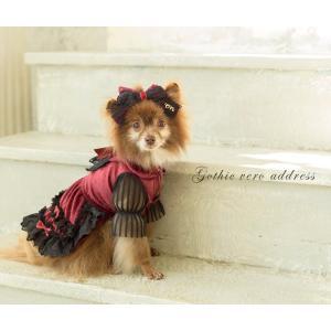 犬 ドレス 撮影 パーティ ゴシック お出かけ きゃんナナ ドッグウェア ブランド|cannanaonline|15
