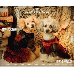 犬 ドレス 撮影 パーティ ゴシック お出かけ きゃんナナ ドッグウェア ブランド|cannanaonline|05