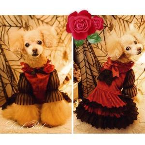 犬 ドレス 撮影 パーティ ゴシック お出かけ きゃんナナ ドッグウェア ブランド|cannanaonline|06