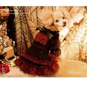 犬 ドレス 撮影 パーティ ゴシック お出かけ きゃんナナ ドッグウェア ブランド|cannanaonline|07
