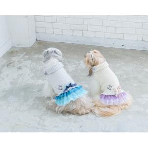 犬 服 ワンピース 秋 冬 ニット 犬の服 新作 きゃんナナ ドッグウェア ブランド|cannanaonline|14