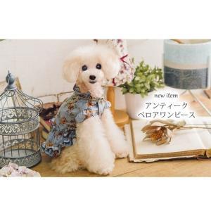 犬 服 ワンピース 秋 冬 花柄 犬の服 新作 きゃんナナ ドッグウェア ブランド|cannanaonline|03