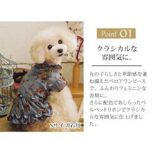犬 服 ワンピース 秋 冬 花柄 犬の服 新作 きゃんナナ ドッグウェア ブランド|cannanaonline|04