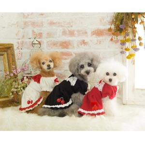犬 服 ワンピース 秋 冬 さくらんぼ 犬の服 新作 きゃんナナ ドッグウェア ブランド|cannanaonline|16
