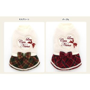 犬 服 ワンピース 秋 冬 ボア 犬の服 新作 きゃんナナ ドッグウェア ブランド|cannanaonline|10