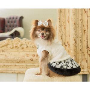犬 服 ワンピース 秋 冬 ファー 犬の服 新作 きゃんナナ ドッグウェア ブランド|cannanaonline|13