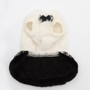 犬 服 ワンピース 秋 冬 ファー 犬の服 新作 きゃんナナ ドッグウェア ブランド|cannanaonline|04