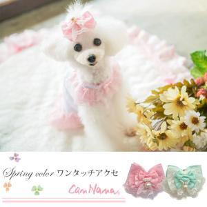 犬 アクセサリー リボン 春 パステル ワンタッチ 簡単 きゃんナナ ブランド|cannanaonline