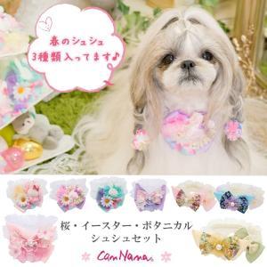 犬用 桜 春 イースターアクセ シュシュ ドッグウェア ブランド きゃんナナ|cannanaonline