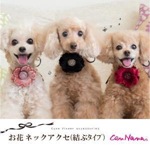 犬 アクセサリー 花 ネックレス 犬用 グッズ アクセ WEB限定販売 きゃんナナ ブランド|cannanaonline