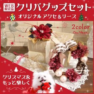 クリスマス プレゼント アクセサリー リース オリジナル 限定 ギフトセット 犬用 ブランド きゃんナナ|cannanaonline