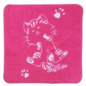 タオルハンカチ ミニハンカチ 厚手 松本零士ミーくん 猫ハンカチ コットン100% デザイナー京 の商品画像|ナビ