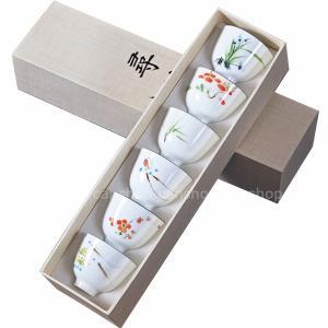 中国茶器 景徳鎮製造 手描きの茶器 6個セット 品茗|canshop2