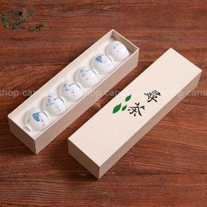 中国茶器 景徳鎮製造 手描きの茶器 6個セット 蓮の絵柄|canshop2