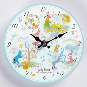 アニマルカーニバル 掛時計 お取り寄せ商品です。    ピアノ発表会 記念品 に最適  音楽雑貨 ねこ雑貨 バレエ雑貨  記念品に最適 音楽会粗品