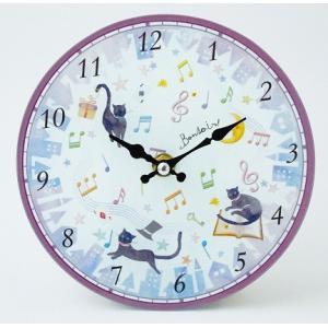 マジカルキャット 掛時計 お取り寄せ商品です。 ピアノ発表会 記念品 に最適 音楽雑貨 ねこ雑貨 バレエ雑貨 記念品に最適 音楽会粗品