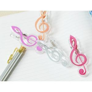 5色から選べるト音記号クリップ お取り寄せ商品です   小物-音楽雑貨