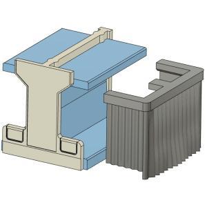 2段寝台用カーテン(閉)KATO製24系向け すずめ模型製3Dプリントパーツ