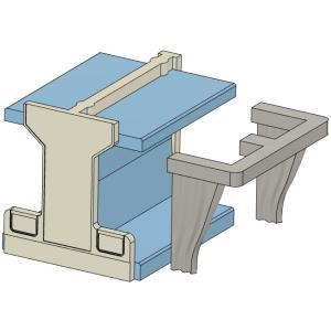 2段寝台用カーテン(開)KATO製24系向け すずめ模型製3Dプリントパーツ