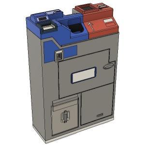 運賃箱 フルカラー3Dプリント製 すずめ模型製3Dプリントパーツ