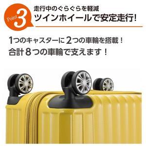 スーツケース Mサイズ 小型 軽量 トップオー...の詳細画像4
