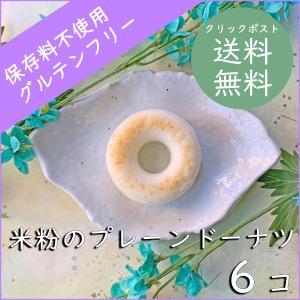 米粉のプレーンドーナツ6コセット【クリックポスト送料無料】|cantik-manis111