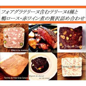 【オープン記念】 フォアグラテリーヌ含む4種・鴨ロースのロースト・馬ホホ肉赤ワイン煮の贅沢詰め合わせ