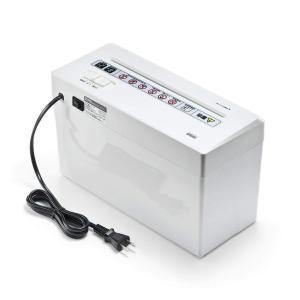 サンワダイレクト 小型 シュレッダー 家庭用 電動 マイクロクロスカット はがき細断可能 静音 A4 2枚細断 連続使用8分 400-PSD|caply