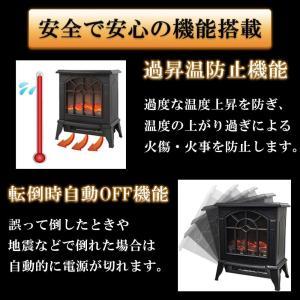 Sea the Stars 暖炉型 ファンヒーター セラミックヒーター 暖炉 2段階切替 電気式暖炉 ヒーター ミニ暖炉 (ブラック)|caply