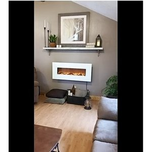 豪華  高級壁掛け電気暖炉 モダ・フレイム  ヒューストン  / Moda Flame  Houston  Electric Firepl|caply