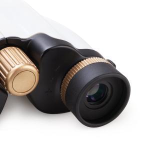Agapo双眼鏡 10倍 22mm有効径 6.1°実視界 10×22×6.1°超小型携帯軽量 ストラップ 専用収納ケース付き ホワイト|caply